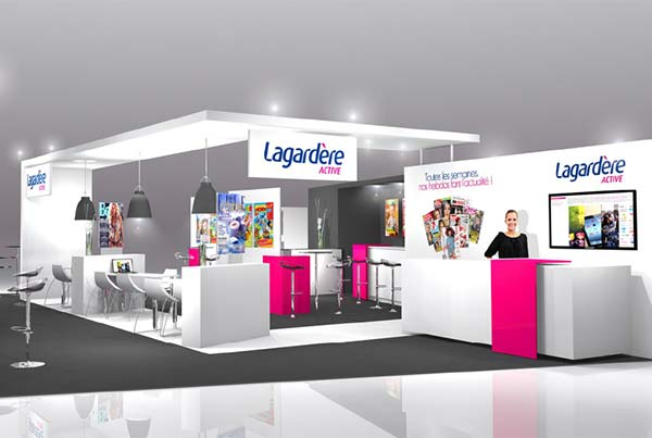 Stand d 39 exposition design clamens design stands events for Amenagement stand foire exposition