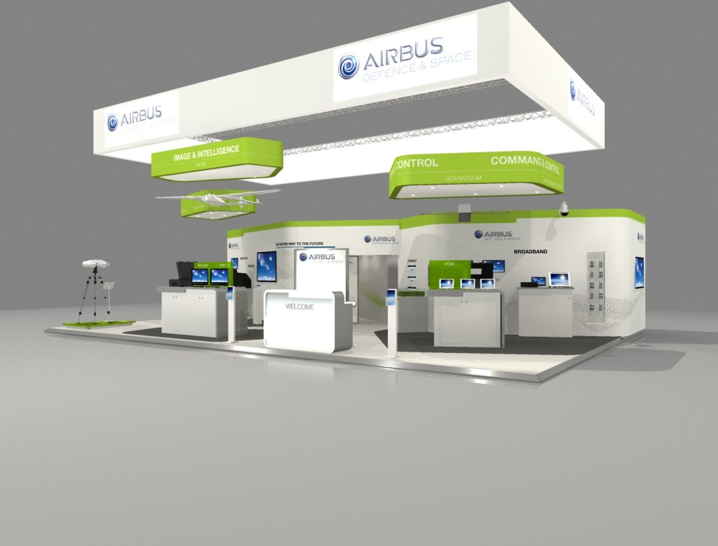 Stand airbus defence and space au salon milipol 2015 for Stand salon original